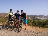 ruta en bici tres