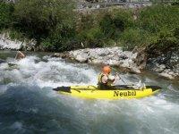 Canoa raft en el rio Deva Asturias