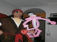 pantera rosa de globos