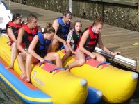 Banana boat with friends