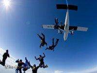 Saltos en paracaídas en Galicia