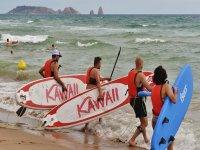 水带桨冲浪