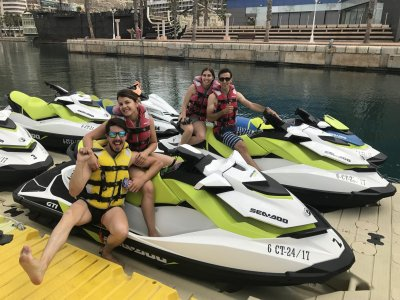 30 min de ruta en moto de agua doble en Alicante