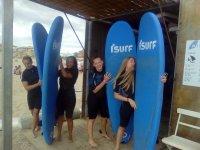 Tablas de surf azules