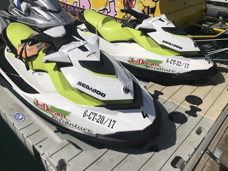 Everybody on a jet ski
