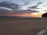 Atardece sobre la playa