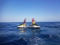 Jet ski trip in the Mediterranean