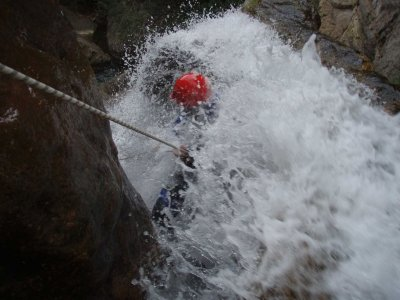Canyoning at night, easy level