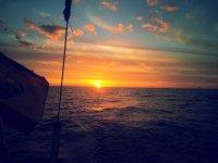 Atardecer en el mar