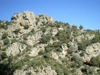 Sesión de escalada en la montaña