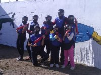 Con armas de paintball infantil