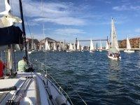 在cantabrico导航准备比赛帆灯开始