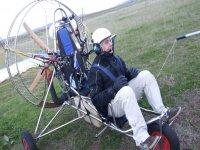 Iniciando el vuelo en paramotor