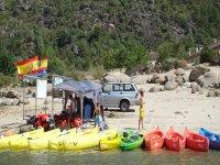 Padel, canoa, kayak, banana