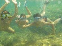 Snorkeling after kayaking