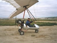 The instructor is waiting for you on our two-seater ultralight