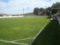 Cesped artificial en campo de futbol de campamento