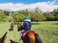 Family route on horseback