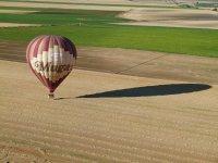 Aterrizaje del globo