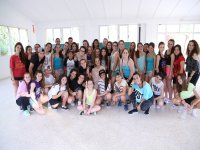 Group of dance camp