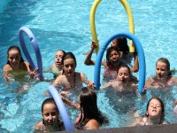 In the pool of the camp