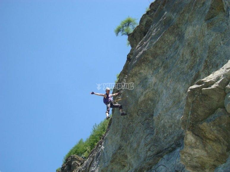 Saludando desde la ladera