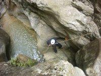 Rappel in the ravine