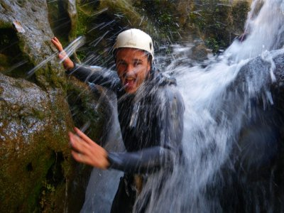 Canyoning descent in Cerrada del Utero