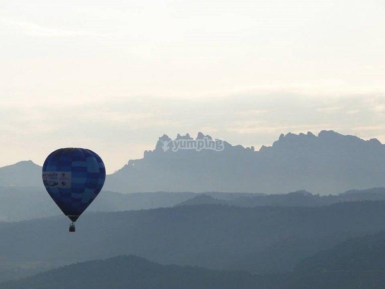 Paesaggi di Ibiza dal pallone