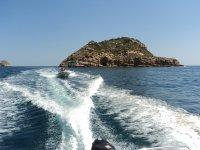 Isla Portichol en barco