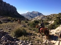 Climbing the Mallorcan mountain range on horseback