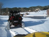 Buggy route through the snow