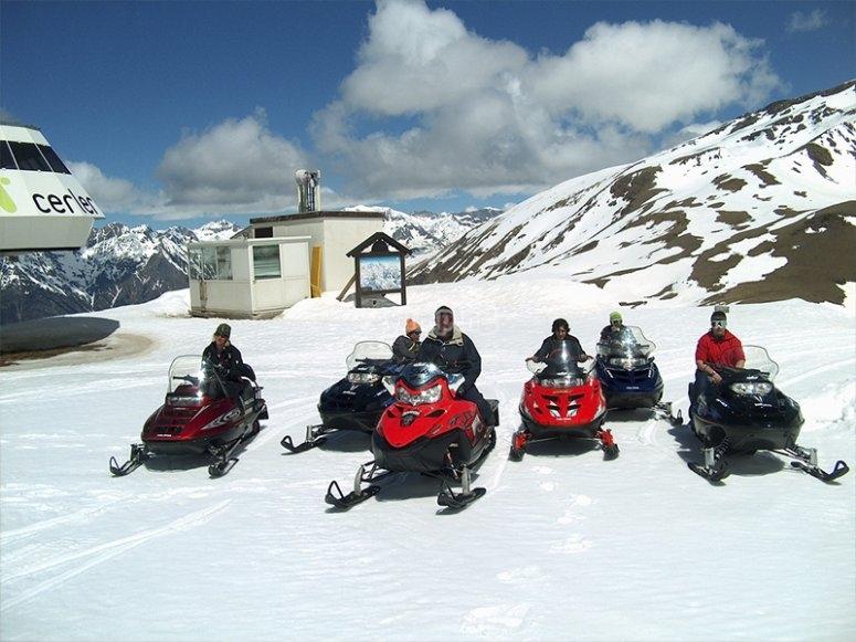 Night snowmobile route