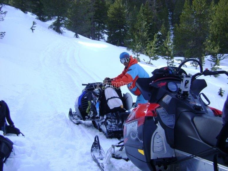 A merendar en la nieve