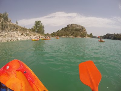 Canoeing in calm waters, Murcia