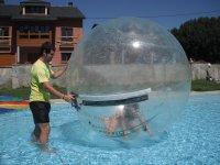 Zorbing ball on water