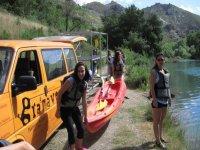 Preparazione delle canoe
