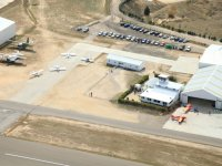 Hangars and runway