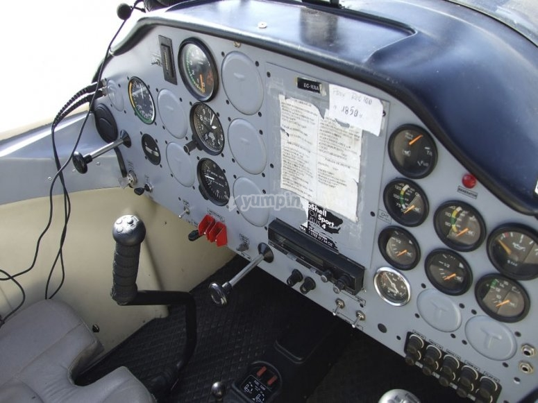 Cockpit in the plane
