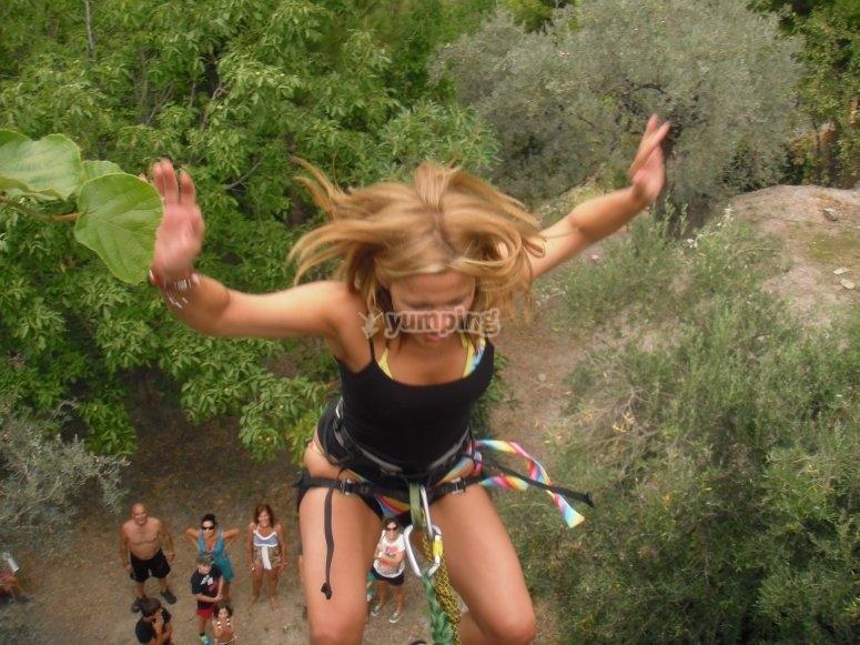 Mini bungee jump