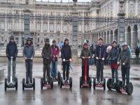 En el Palacio Real con los segways