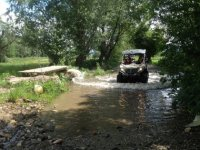 Crossing the water in the buggie