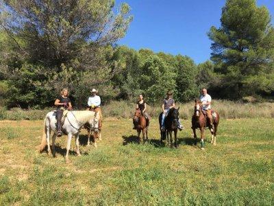 Ruta a caballo en La Font del Bou 1 h 40 min