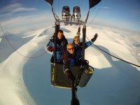 乘坐气球比利牛斯山脉和Cerdanya照片和文凭