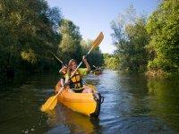 Sharing the kayak