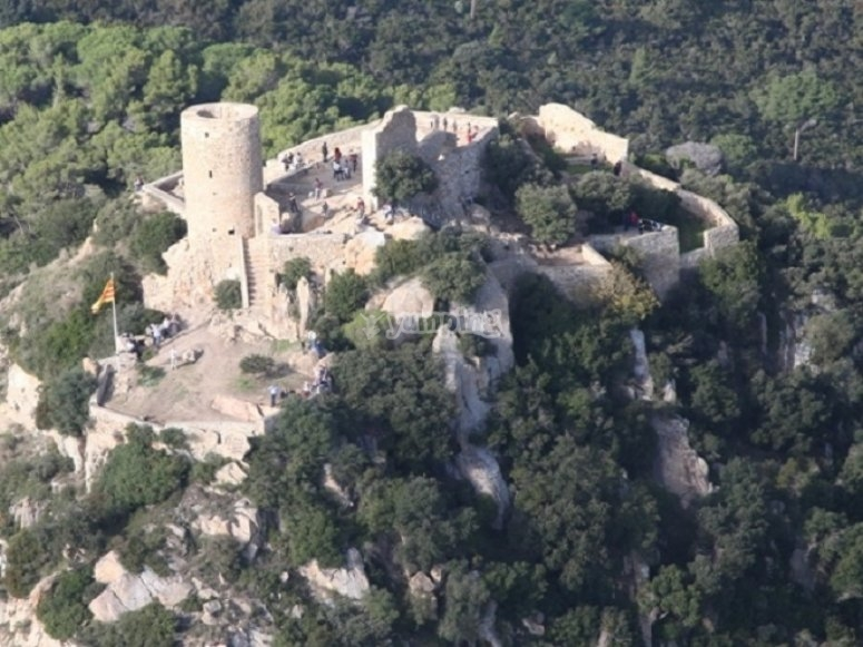 Flying over the castle