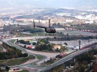 Flying over Montmelo