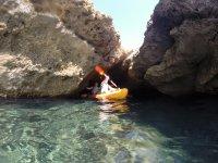穆尔西亚的海上皮划艇和浮潜3小时