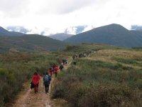 Walking towards our destination