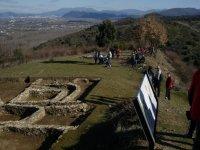 参观莱昂的古代定居点